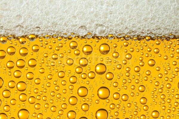 Makro piwa spocony okulary Zdjęcia stock © Antartis