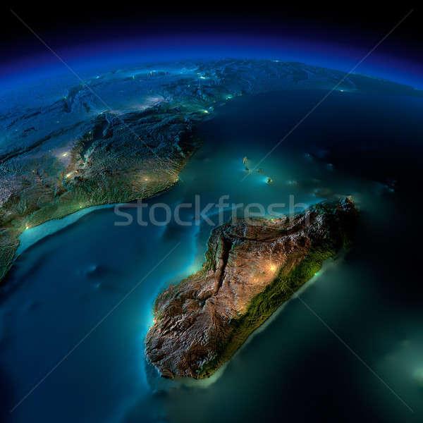 Noc ziemi kawałek Afryki Mozambik Madagaskar Zdjęcia stock © Antartis
