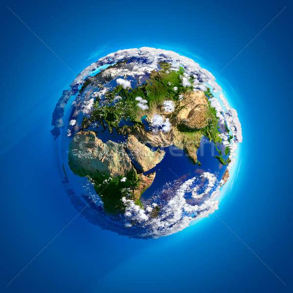 Echt aarde atmosfeer oceanen bergen zonlicht Stockfoto © Antartis