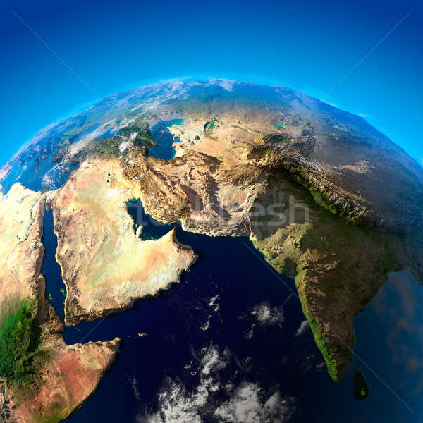Beautiful Earth - Arabian Peninsula and India from space Stock photo © Antartis