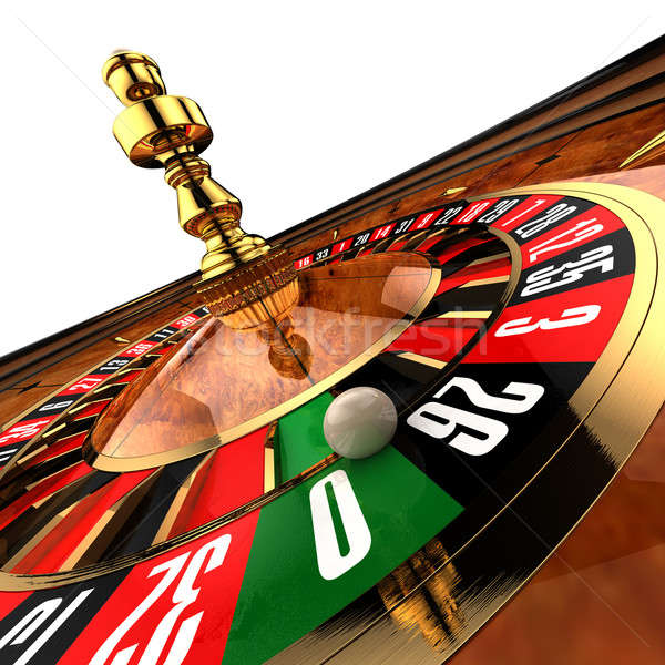 Casino Roulette on white Stock photo © Antartis
