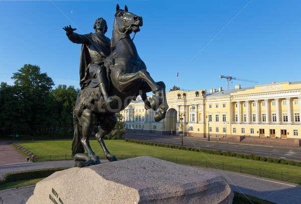 Monument The Bronze Horseman in St. Petersburg Stock photo © Antartis