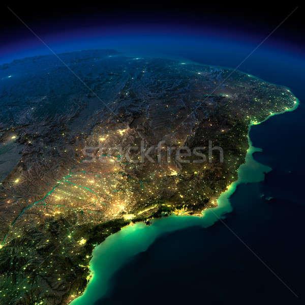 éjszaka Föld darab dél-amerika Brazília rendkívül Stock fotó © Antartis