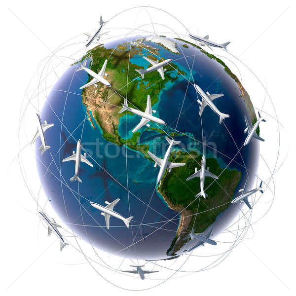 International air travel Stock photo © Antartis