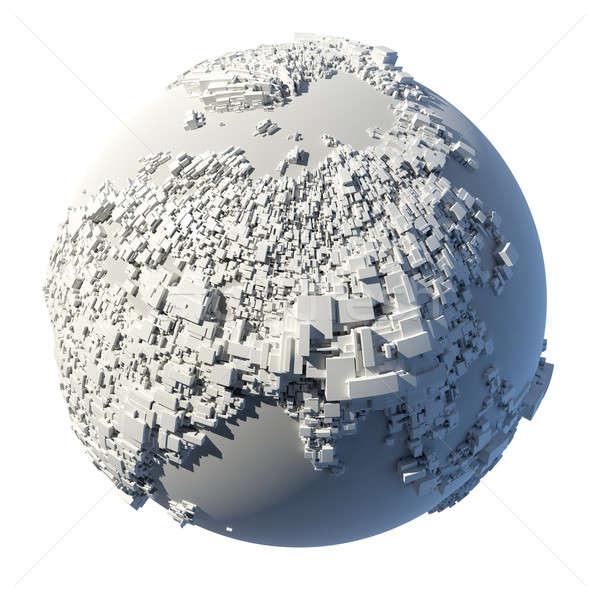 Struttura pianeta terra complesso terra rettangolare forme Foto d'archivio © Antartis