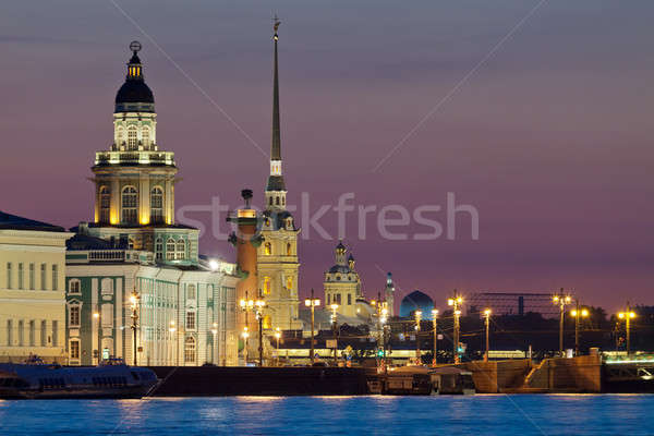 The iconic view of St. Petersburg White Nights Stock photo © Antartis