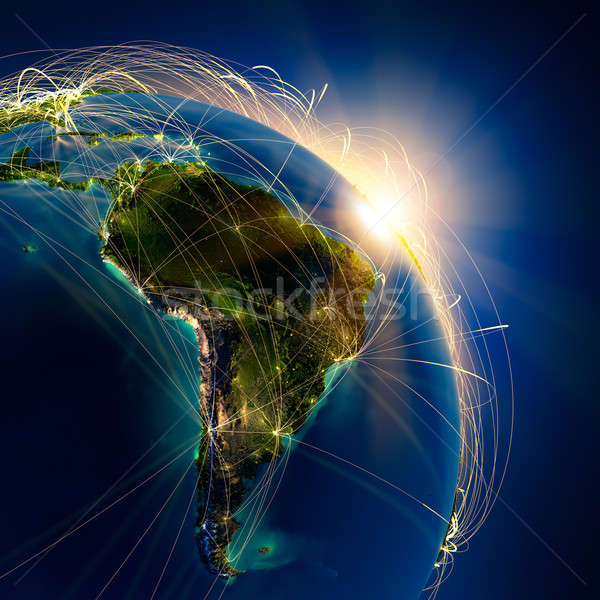Main air routes in South America Stock photo © Antartis