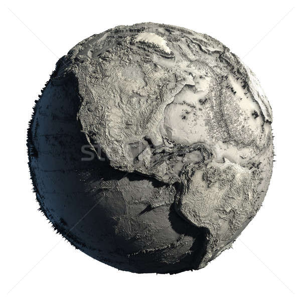 Stock photo: Dead Planet Earth without water