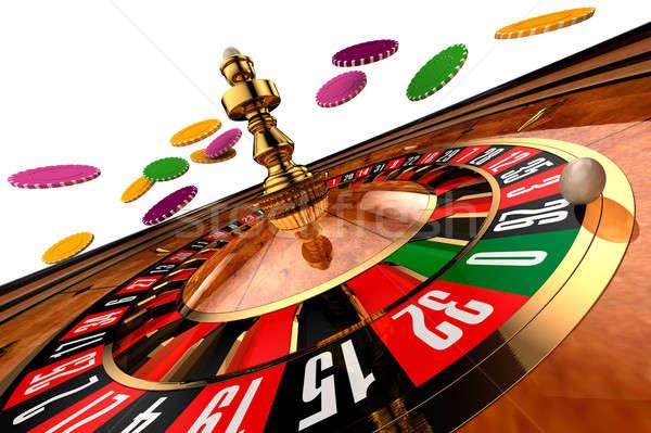 Kaszinó rulett fehér program üzlet pénz Stock fotó © Antartis