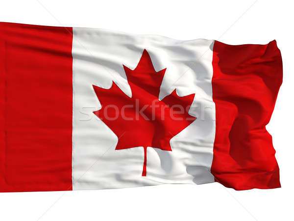 Flag of Canada, fluttered in the wind Stock photo © Antartis