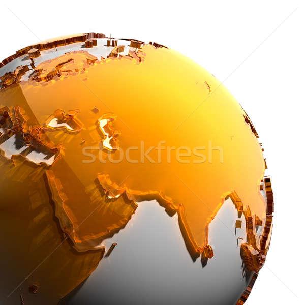 Ziemi kontynenty pomarańczowy szkła świecie Zdjęcia stock © Antartis