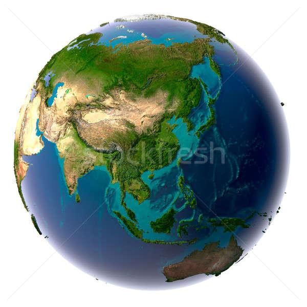 ストックフォト: 現実的な · 地球 · 自然 · 水 · 地球