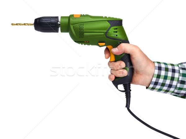 Foto stock: Masculina · mano · eléctrica · perforación · trabajador