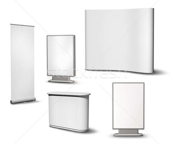 Blank exhibition equipment collection Stock photo © Anterovium