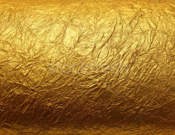 Leaf gold foil texture Stock photo © Anterovium