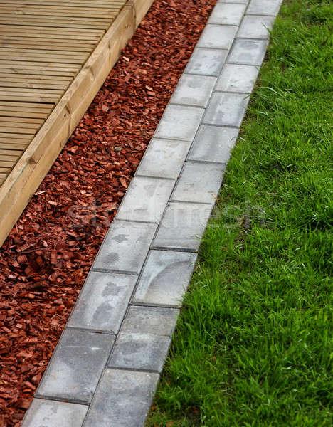 современных домой саду терраса здании Сток-фото © Anterovium