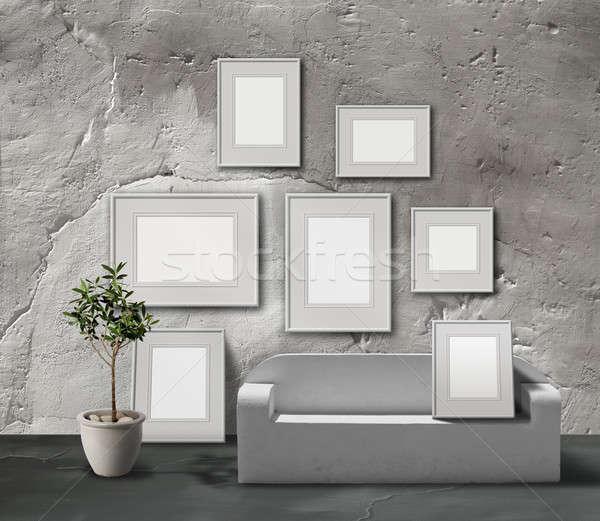 белый каменные фотография галерея выставка пространстве Сток-фото © Anterovium