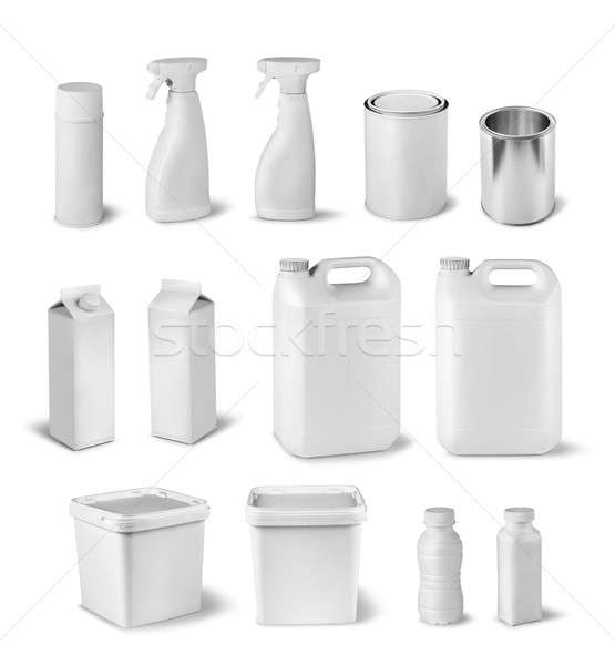 Blank package dummy collection Stock photo © Anterovium
