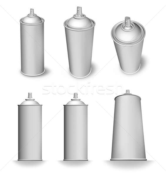 Aerossol lata spray garrafa branco Foto stock © Anterovium