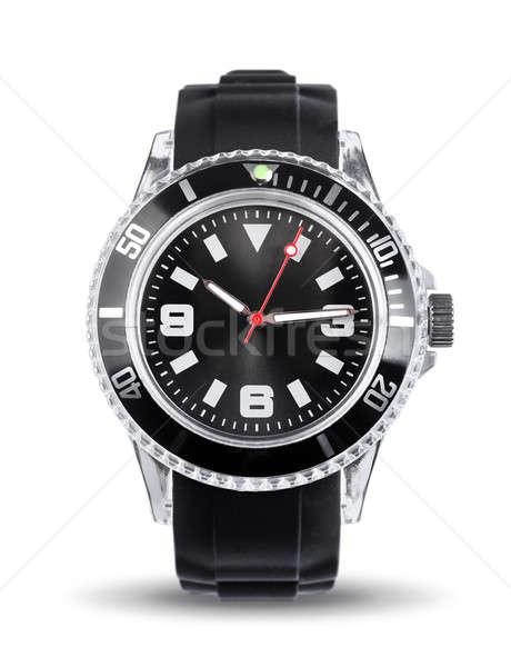 Sporty chronograph watch isolated Stock photo © Anterovium