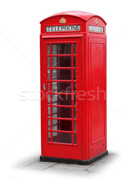 Red phone booth box in London UK Stock photo © Anterovium
