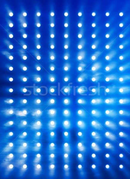 Rock stage lights blue smoke Stock photo © Anterovium