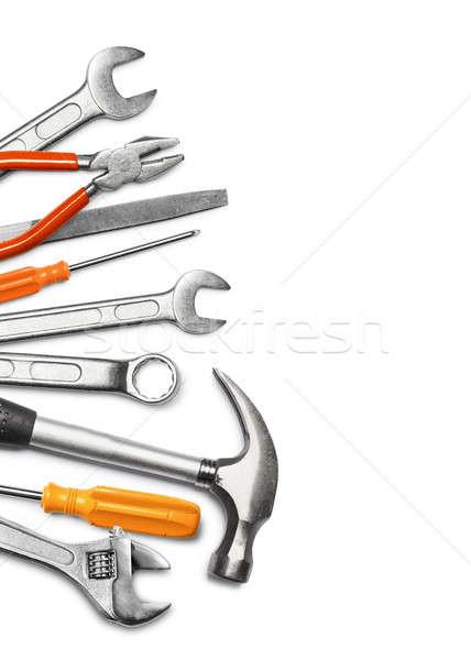 Mechanic tools on white Stock photo © Anterovium