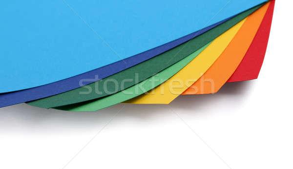 Colorato carta carta set isolato bianco Foto d'archivio © Anterovium