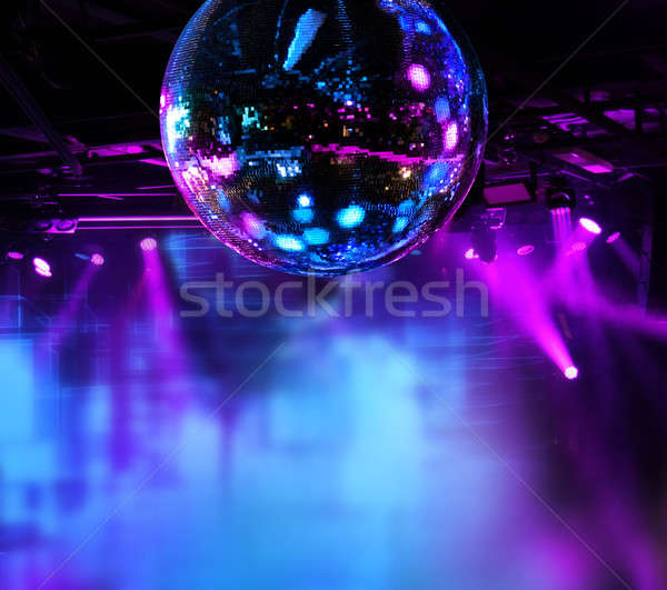 Colorful disco mirror ball lights Stock photo © Anterovium