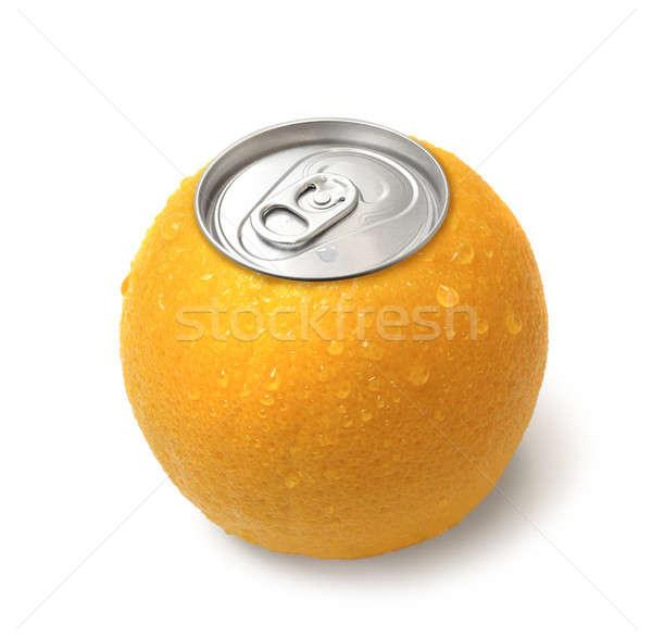 Dobozos narancslé friss kép fehér izolált Stock fotó © Anterovium