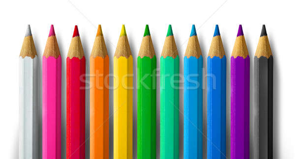 Color pencil spectrum Stock photo © Anterovium