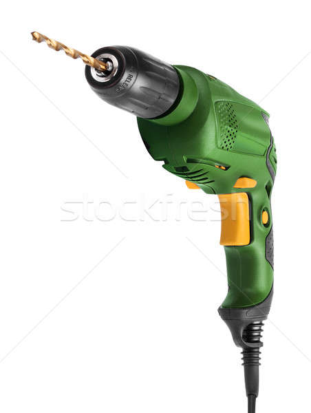 Electric drill front isolated on white Stock photo © Anterovium