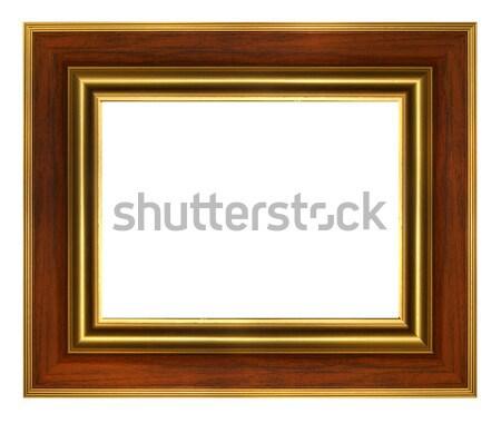 Classic wood gold frame Stock photo © Anterovium