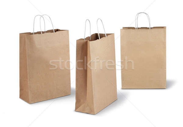 Three brown paper bags Stock photo © Anterovium