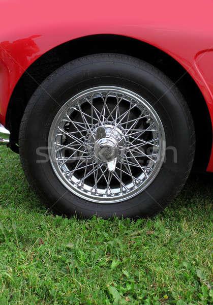 Chrome wheel Stock photo © Anterovium