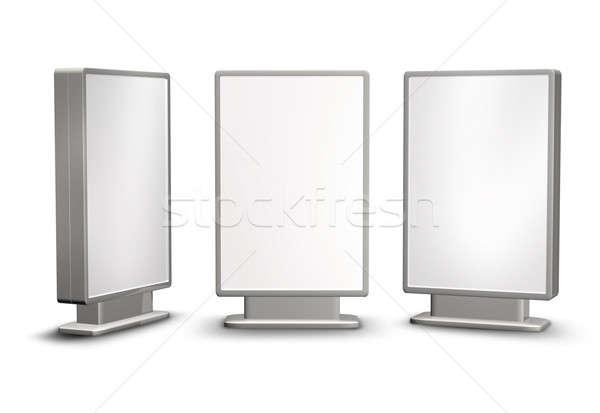 Cartellone post stile moderno segni isolato bianco Foto d'archivio © Anterovium