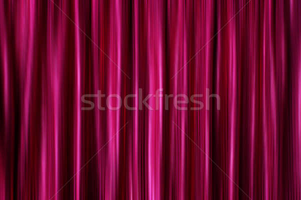 Purple silky satin curtains Stock photo © Anterovium