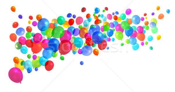 Colorful balloons flying Stock photo © Anterovium