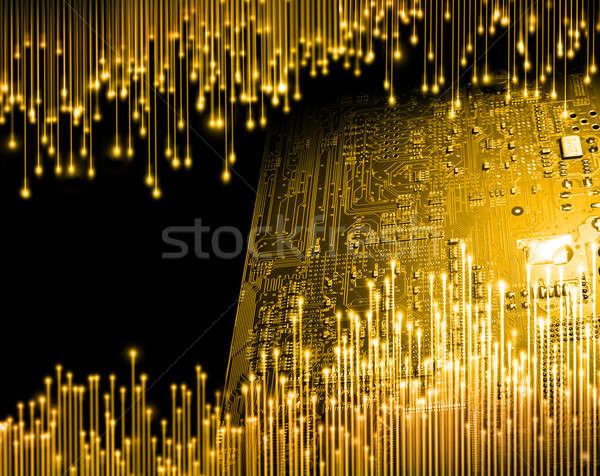 Golden age of computer technology Stock photo © Anterovium