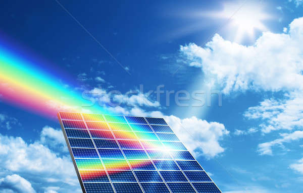 Solar energy renewable energy concept Stock photo © Anterovium