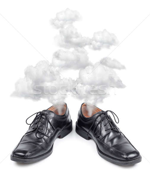 Business shoes exhausted Stock photo © Anterovium