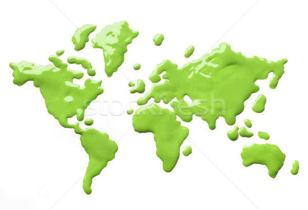 Boya Dünya Yeşil Sıçraması Dünya Stok Fotoğraf Hannu