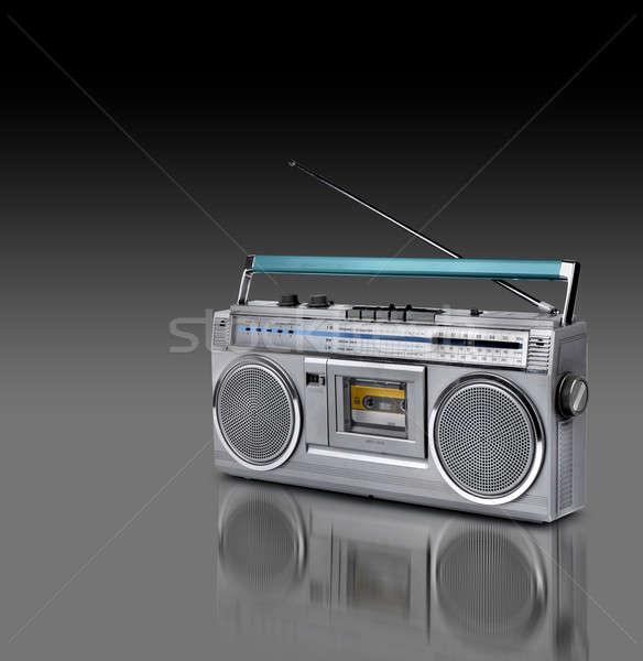 Vintage stereo radio cassette speler 80s Stockfoto © Anterovium