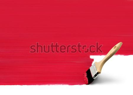 Analog Pinsel digitalen traditionellen Pinsel Malerei Stock foto © Anterovium