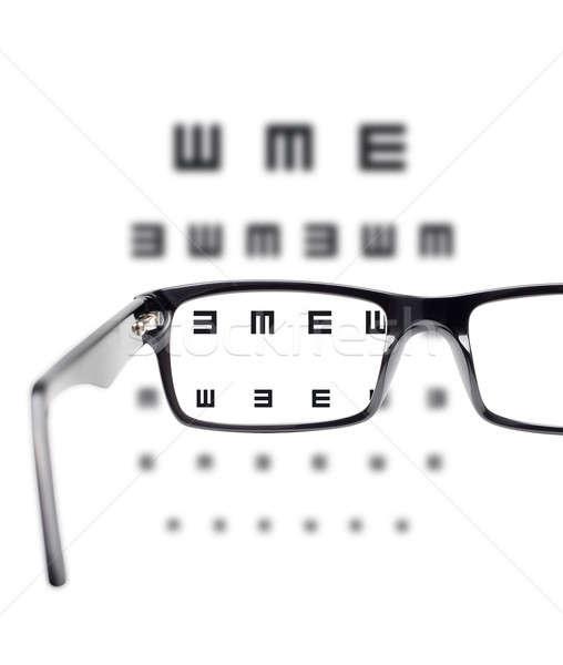 Vista corpo olho óculos branco isolado Foto stock © Anterovium