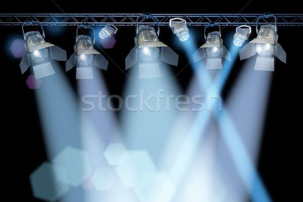 ステージ スポットライト ラック プロ ランプ 黒 ストックフォト © Anterovium