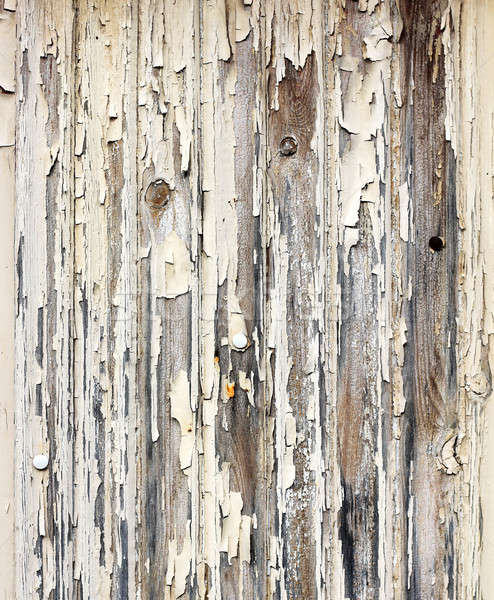 Peeling paint wooden surface Stock photo © Anterovium