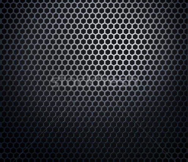 Metal plaster miodu sieci grill czarny technologii Zdjęcia stock © Anterovium