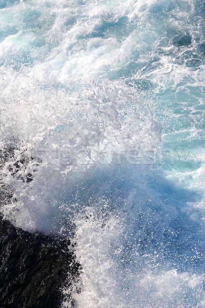 fresh blue white surf Stock photo © Anterovium