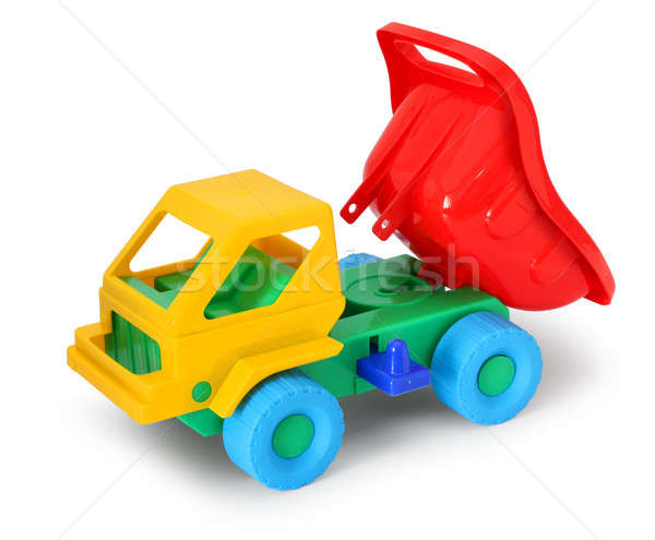 Colorful toy truck unload Stock photo © Anterovium